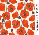 poppy seamless pattern | Shutterstock .eps vector #119599183