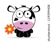 sweet and cute cow vector... | Shutterstock .eps vector #119599408