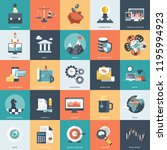 colorful icon set for business  ... | Shutterstock .eps vector #1195994923