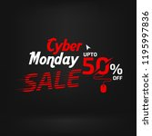 cyber monday sale banner ad... | Shutterstock .eps vector #1195997836