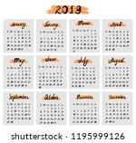 Hand Drawn Calendar With...
