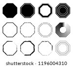 octagon icon pack. geometry... | Shutterstock .eps vector #1196004310