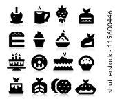dessert icons   Shutterstock .eps vector #119600446
