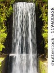 Water Cascade Falls From A Hig...