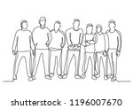 continuous line drawing of work ... | Shutterstock .eps vector #1196007670