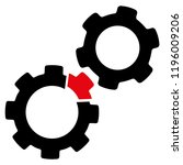 vector damaged gears...   Shutterstock .eps vector #1196009206
