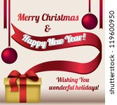 gift box with message on the... | Shutterstock .eps vector #119600950