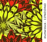 seamless floral background.... | Shutterstock .eps vector #1196010460