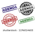 agenda seal prints with damaged ... | Shutterstock .eps vector #1196014603