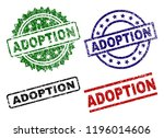 adoption seal prints with... | Shutterstock .eps vector #1196014606