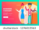 business presentation  giving a ... | Shutterstock .eps vector #1196015563