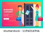 business concept. before the... | Shutterstock .eps vector #1196016946
