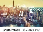 ai with the new york city... | Shutterstock . vector #1196021140