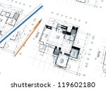 3d home plot plan with white... | Shutterstock . vector #119602180