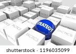 strategy vs tactics action plan ... | Shutterstock . vector #1196035099