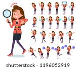 a set of women in the 90's... | Shutterstock .eps vector #1196052919