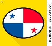panama flag speech bubble ... | Shutterstock .eps vector #1196058019
