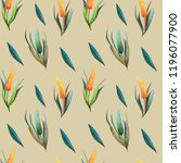 floral seamless pattern made of ...   Shutterstock . vector #1196077900