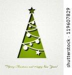 christmas background | Shutterstock .eps vector #119607829