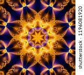 abstract kaleidoscope gold... | Shutterstock . vector #1196081920