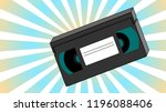 old retro vintage analogue... | Shutterstock .eps vector #1196088406