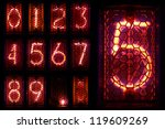 the real nixie tube indicator a ... | Shutterstock . vector #119609269