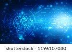 bulb future technology ... | Shutterstock . vector #1196107030