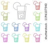 cold drink icon in multi color. ...
