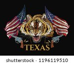 wild west embroidery tiger head ... | Shutterstock .eps vector #1196119510