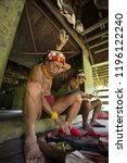 indians of the mentawai tribe ... | Shutterstock . vector #1196122240