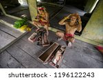 indians of the mentawai tribe ... | Shutterstock . vector #1196122243