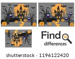find 10 differences  game for... | Shutterstock .eps vector #1196122420