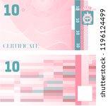 gift certificate voucher... | Shutterstock .eps vector #1196124499