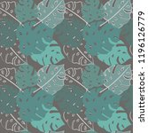 seamless pattern with tropic... | Shutterstock .eps vector #1196126779