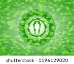 dead man in his coffin icon... | Shutterstock .eps vector #1196129020