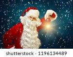 christmas concept. santa claus ...   Shutterstock . vector #1196134489