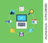 programming and coding  website ... | Shutterstock .eps vector #1196138080