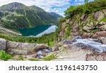 panorama view on morskie oko... | Shutterstock . vector #1196143750