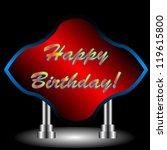 beautiful happy birthday... | Shutterstock . vector #119615800