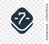 seven vector icon isolated on...