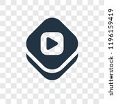 video player vector icon...