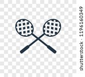 racket vector icon isolated on... | Shutterstock .eps vector #1196160349