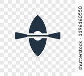 kayak vector icon isolated on...   Shutterstock .eps vector #1196160550