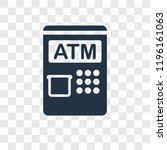 atm vector icon isolated on... | Shutterstock .eps vector #1196161063