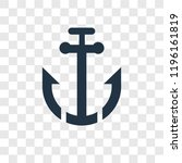 sailboat anchor vector icon... | Shutterstock .eps vector #1196161819