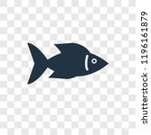 fish facing right vector icon... | Shutterstock .eps vector #1196161879