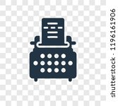 writer vector icon isolated on... | Shutterstock .eps vector #1196161906