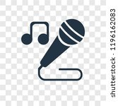 singer vector icon isolated on...   Shutterstock .eps vector #1196162083
