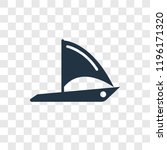 round sailboat vector icon... | Shutterstock .eps vector #1196171320