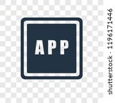 app vector icon isolated on...